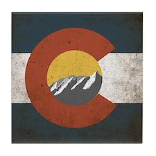 Colorado State Mountains Tile Coaster