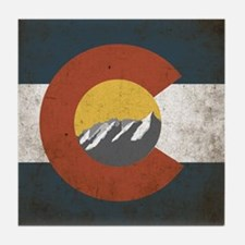 Colorado State Mountains Tile Coaster