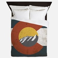 Colorado State Mountains Queen Duvet