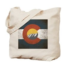 Colorado State Mountains Tote Bag