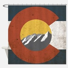 Colorado State Mountains Shower Curtain