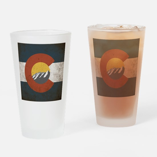 Colorado State Mountains Drinking Glass