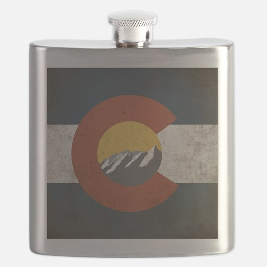 Colorado State Mountains Flask