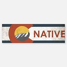 Colorado Native Red Bumper Bumper Sticker
