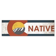 Colorado Native Red Bumper Sticker