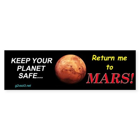 G2vsol3 Keep Your Planet Safe... Bumper Sticker