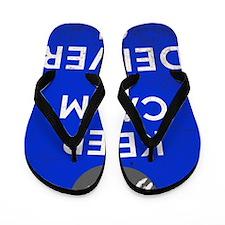 Keep Calm Denver Flip Flops