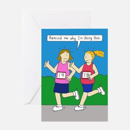 Running Encouragement for Women Greeting Cards