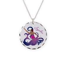 Cute Synchro swimming Necklace Circle Charm