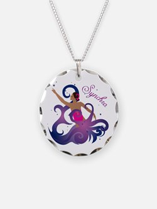 Unique Synchro swimming Necklace Circle Charm