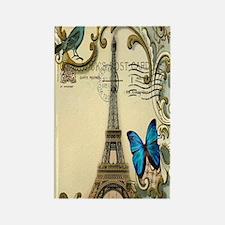 victorian blue butterfly  paris e Rectangle Magnet