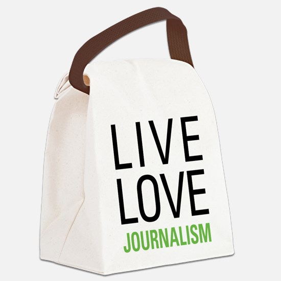 Live Love Journalism Canvas Lunch Bag