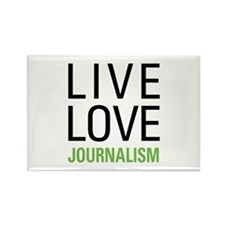 Live Love Journalism Rectangle Magnet (10 pack)