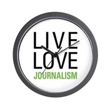 Live Love Journalism Wall Clock