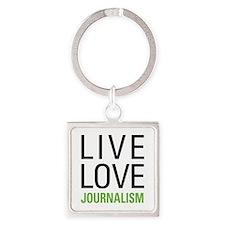 Live Love Journalism Square Keychain