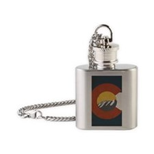 Colorado State Flag Flask Necklace