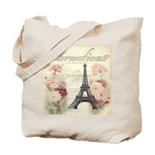 carnation flower paris eiffel tower lands Tote Bag
