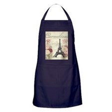 carnation flower paris eiffel tower l Apron (dark)