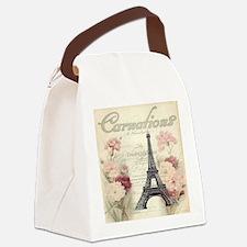 carnation flower paris eiffel tow Canvas Lunch Bag