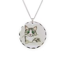 Gray Tabby Necklace