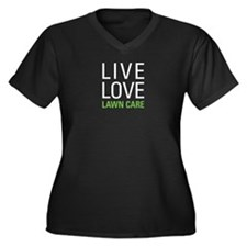 Live Love La Women's Plus Size V-Neck Dark T-Shirt