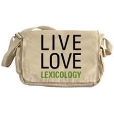Live Love Lexicology Messenger Bag