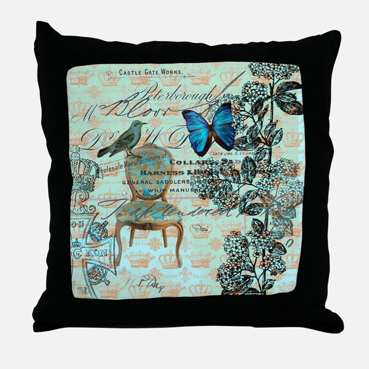 Teal Butterfly Pillows, Teal Butterfly Throw Pillows & Decorative Couch Pillows