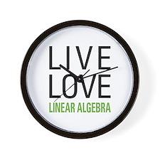 Live Love Linear Algebra Wall Clock