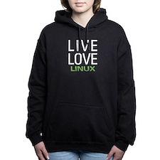 Live Love Linux Women's Hooded Sweatshirt