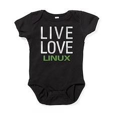 Live Love Linux Baby Bodysuit