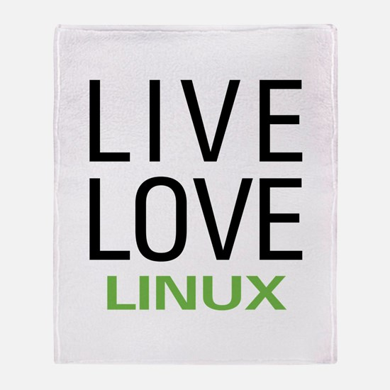 Live Love Linux Throw Blanket