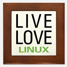 Live Love Linux Framed Tile