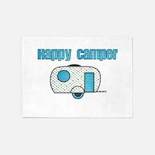 Happy Camper (Blue) 5'x7'Area Rug