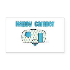 Happy Camper (Blue) Rectangle Car Magnet
