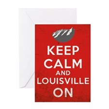 Keep Calm Louisville Grunge 10 Greeting Cards