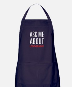 Ask Me About Lithography Apron (dark)