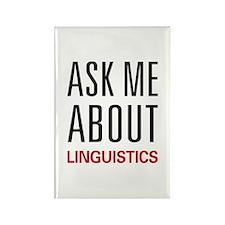 Ask Me About Linguistics Rectangle Magnet