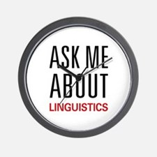 Ask Me About Linguistics Wall Clock