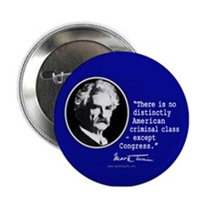 "Mark Twain... 2.25"" Button"