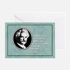 Mark Twain... Greeting Card