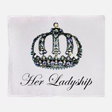 Her Ladyship Throw Blanket