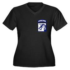 18th Airborn Women's Plus Size V-Neck Dark T-Shirt