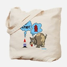 Gnome Visited by the Dog Tote Bag