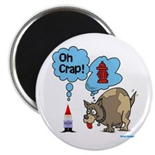 """Gnome Visited by the Dog 2.25"""" Magnet (10 pack)"""