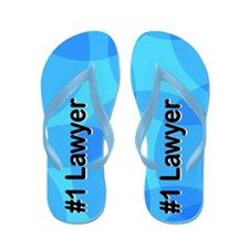 Abstract Lawyer Flip Flops