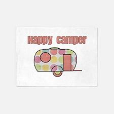 Happy Camper (Pinks) 5'x7'Area Rug