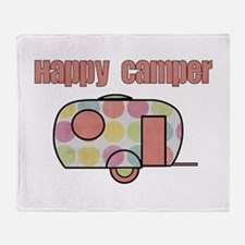 Happy Camper (Pinks) Throw Blanket