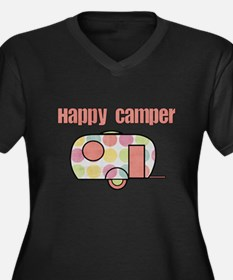 Happy Camper (Pinks) Plus Size T-Shirt