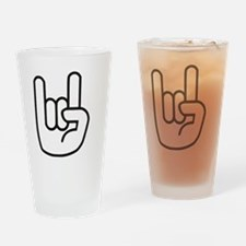 Heavy Metal Hand 1 Drinking Glass