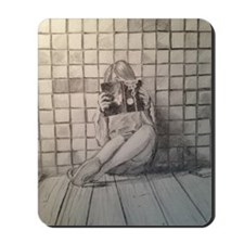 Girl Reading Mousepad